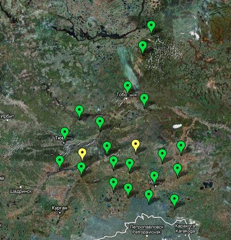 Сегодня сеть Тюменской области